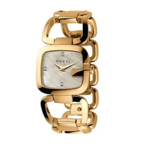 Gucci Ladies watch gold mother of pearl dial