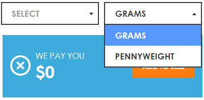 gold calculator supports gram and pennyweight