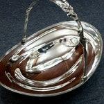 Tiffany sterling silver basket with handle